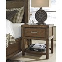 Signature Design by Ashley Leystone Contemporary Night Stand with Slatted Shelf