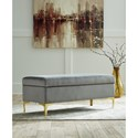 Signature Design by Ashley Bachwich Contemporary Upholstered Storage Bench