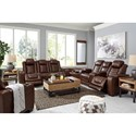 Signature Design by Ashley Backtrack Reclining Living Room Group - Item Number: U28004 Living Room Group 2