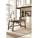 Signature Design by Ashley Baldridge Contemporary Upholstered Swivel Desk Chair with Nailhead Trim