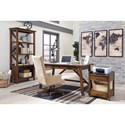 Signature Design by Ashley Baldridge Large Bookcase with Crossbuck Supports