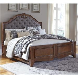 Signature Design by Ashley Balinder Cal King Bed w/ Upholstered Panel Headboard