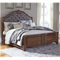 Signature Design by Ashley Balinder Cal King Bed w/ Upholstered Panel Headboard - Item Number: B708-78+76+94