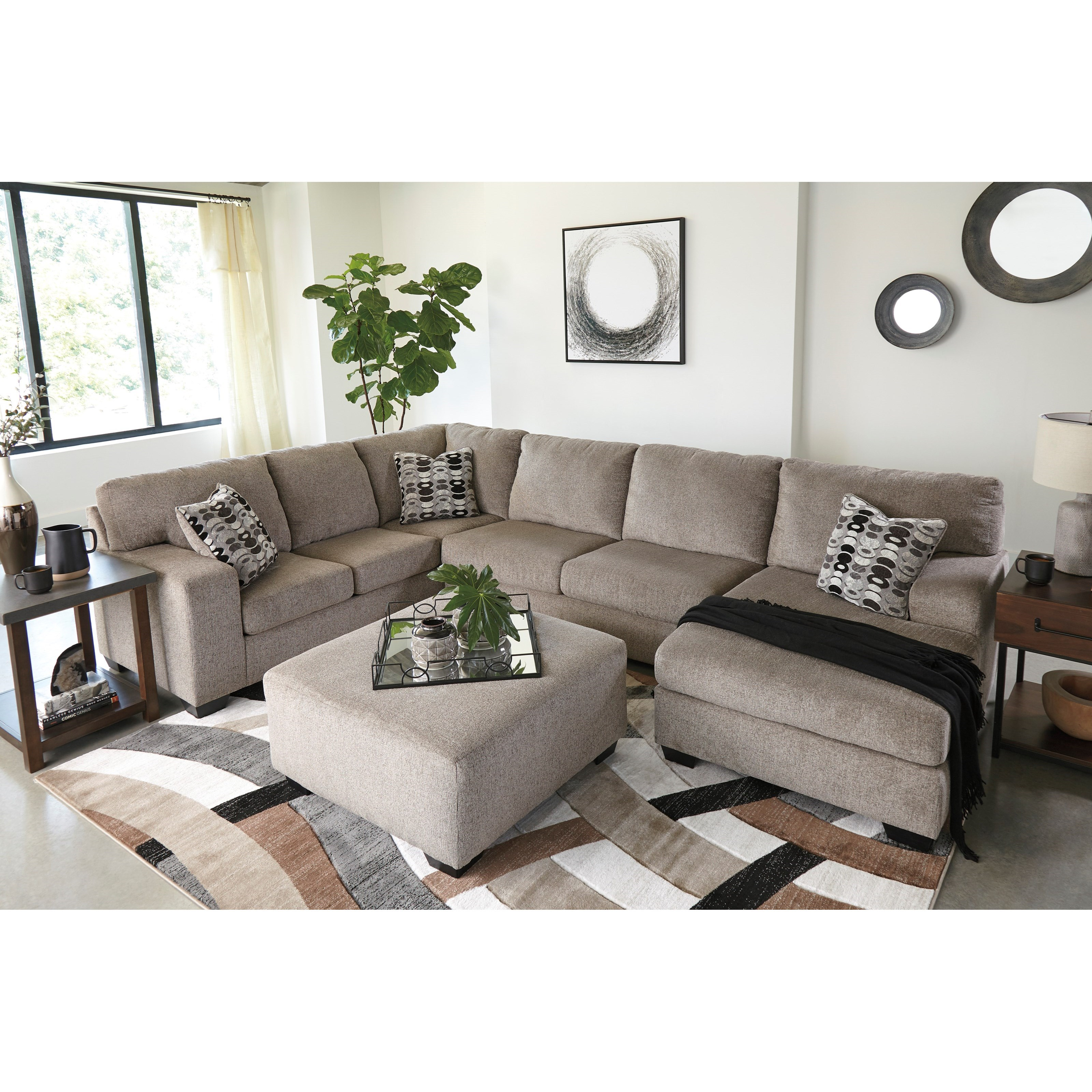 Chesapeake Contemporary 3 Piece Sectional With Chaise