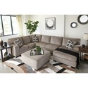 Signature Design by Ashley Ballinasloe Contemporary 3 Piece Sectional with Chaise