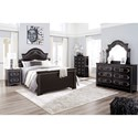 Signature Design by Ashley Banalski Traditional Queen Panel Bed