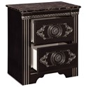 Signature Design by Ashley Banalski Traditional 2-Drawer Nightstand with Faux Marble Top and USB/Qi Wireless Charger