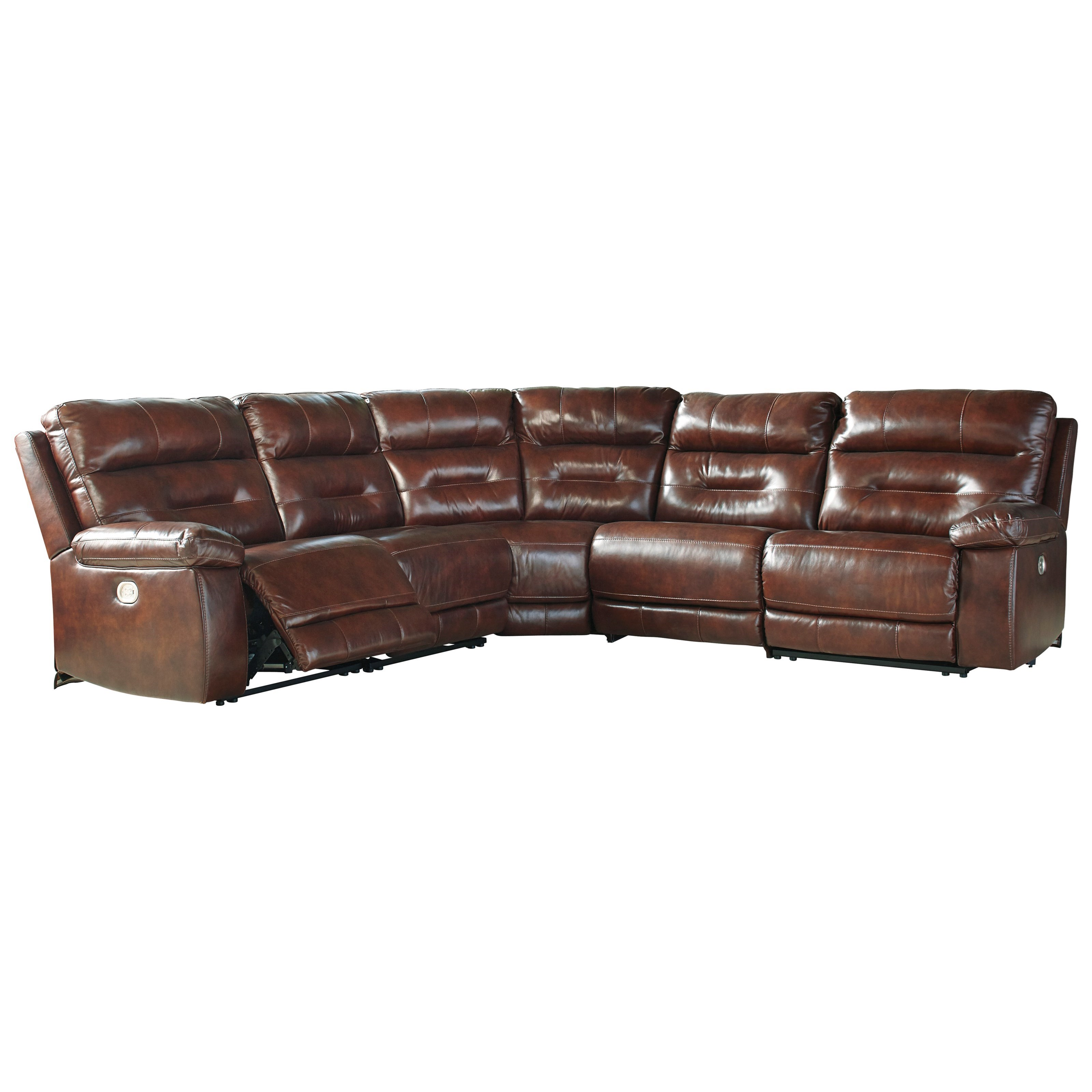 Signature Design by Ashley Bancker Power Reclining Sectional - Item Number: 7030058+19+77+46+62