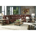 Signature Design by Ashley Bancker Casual Power Reclining Sectional with Power Headrest