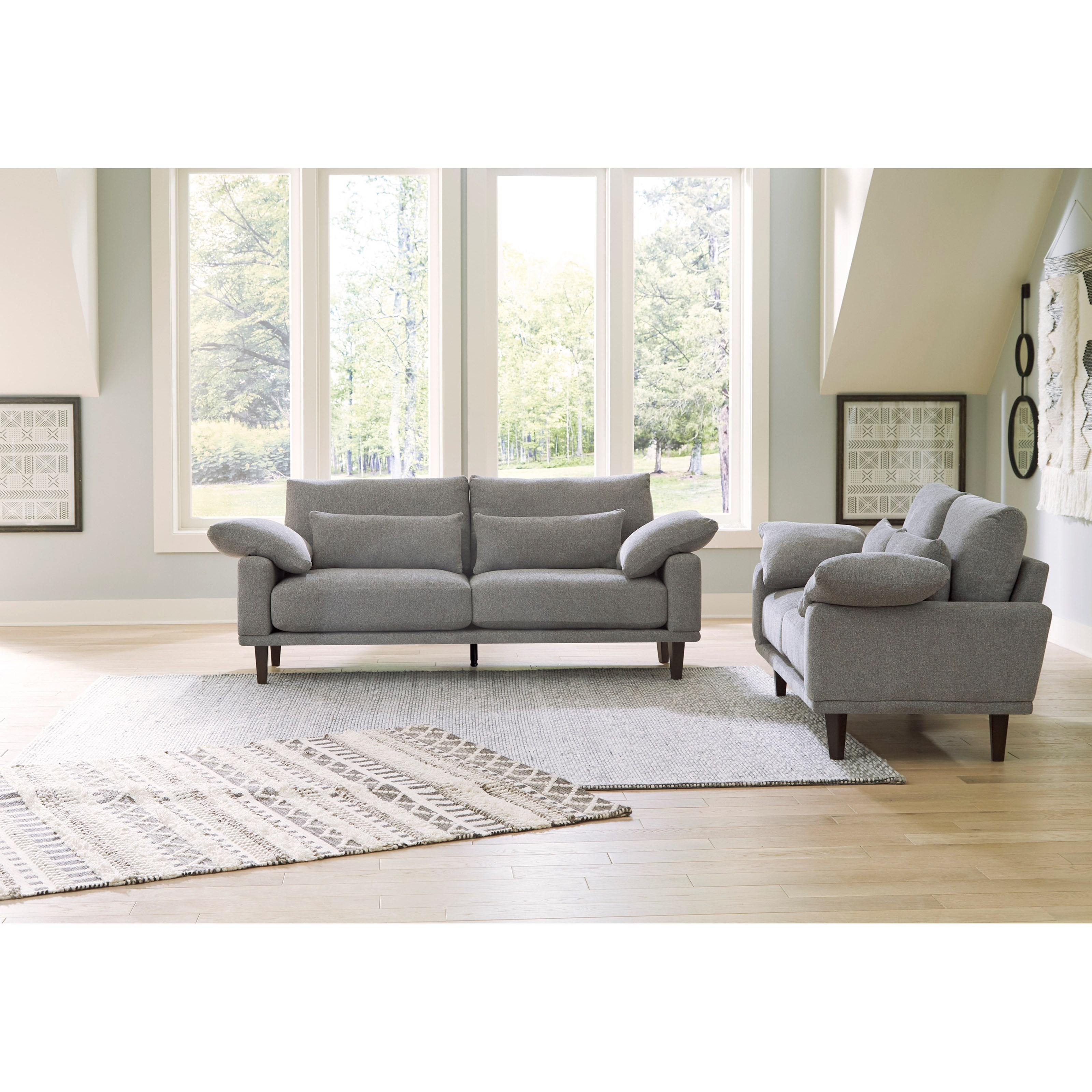 Baneway Stationary Living Room Group by Benchcraft at Virginia Furniture Market