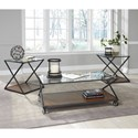 Signature Design by Ashley Banilee Industrial Style Occasional Table Set