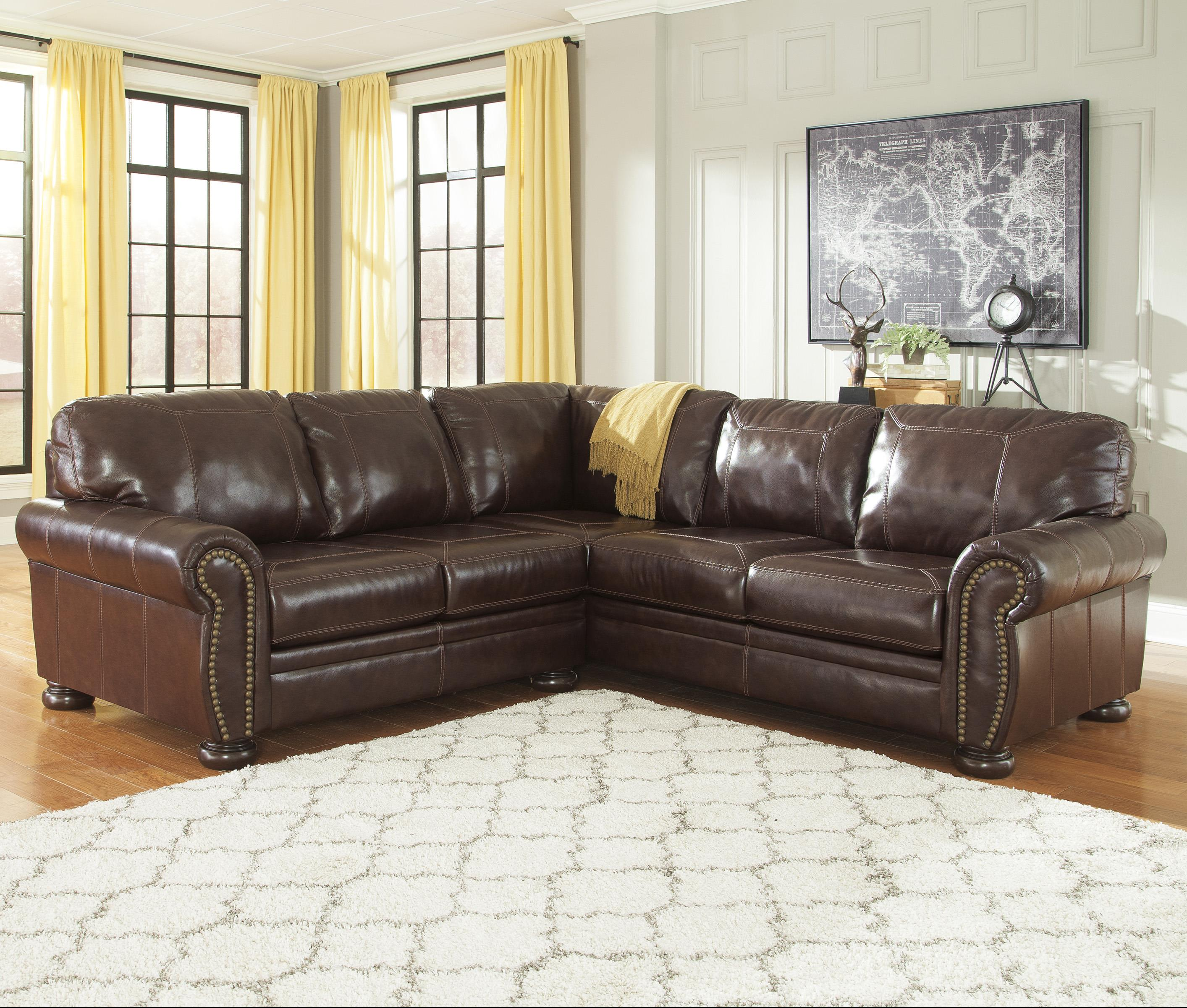 signature design by ashley banner 2piece sectional item number