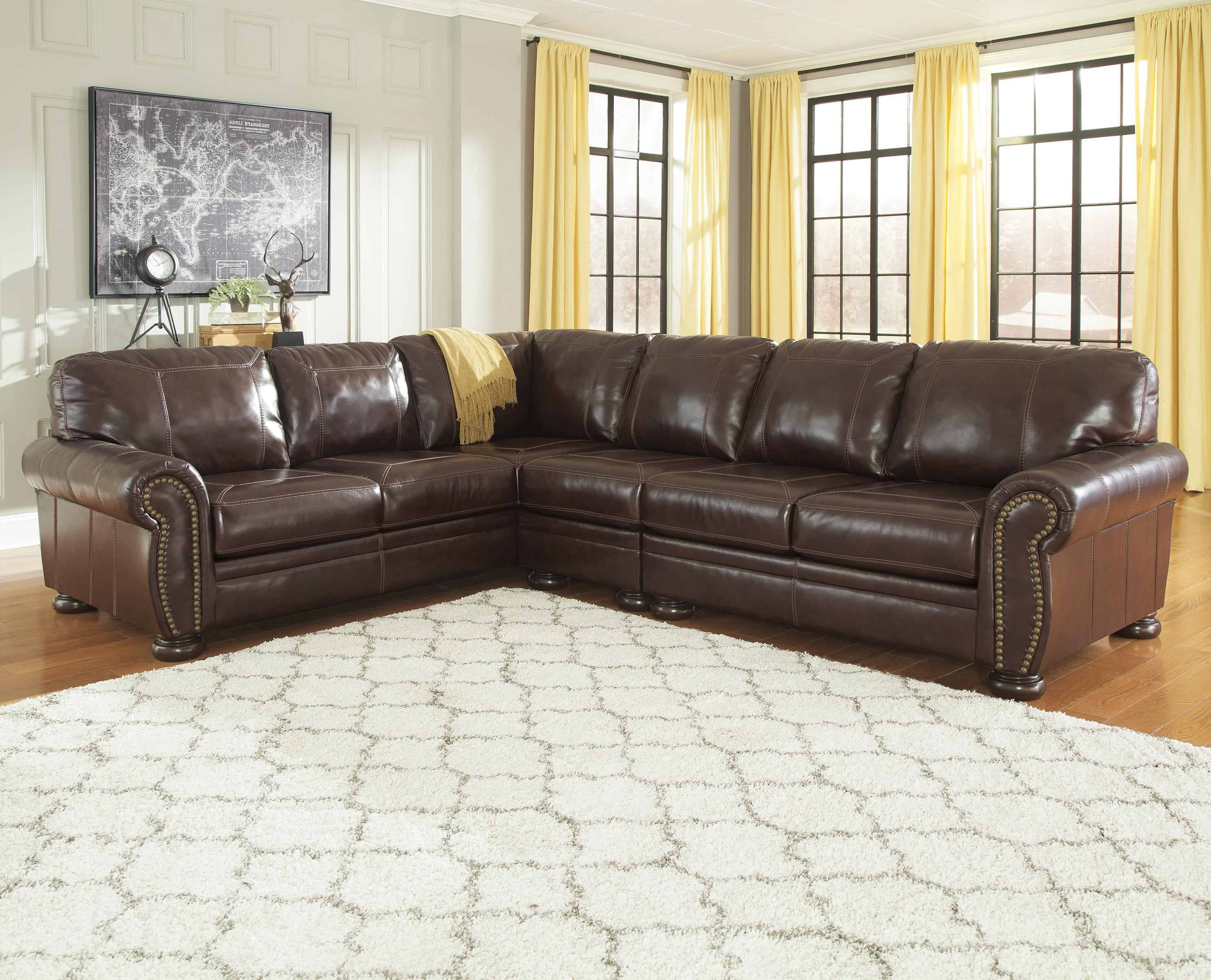 Signature Design by Ashley Banner 3-Piece Sectional - Item Number: 5040466+46+56