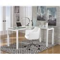 Signature Design by Ashley Baraga L-Desk and Office Chair Set - Item Number: 892311449