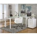 Signature Design by Ashley Baraga L-Desk, Office Chair and File Cabinet Set - Item Number: 893311440
