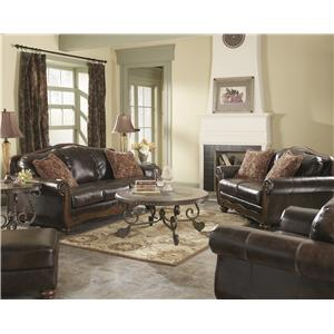 Signature Design by Ashley Barcelona - Antique Stationary Living Room Group