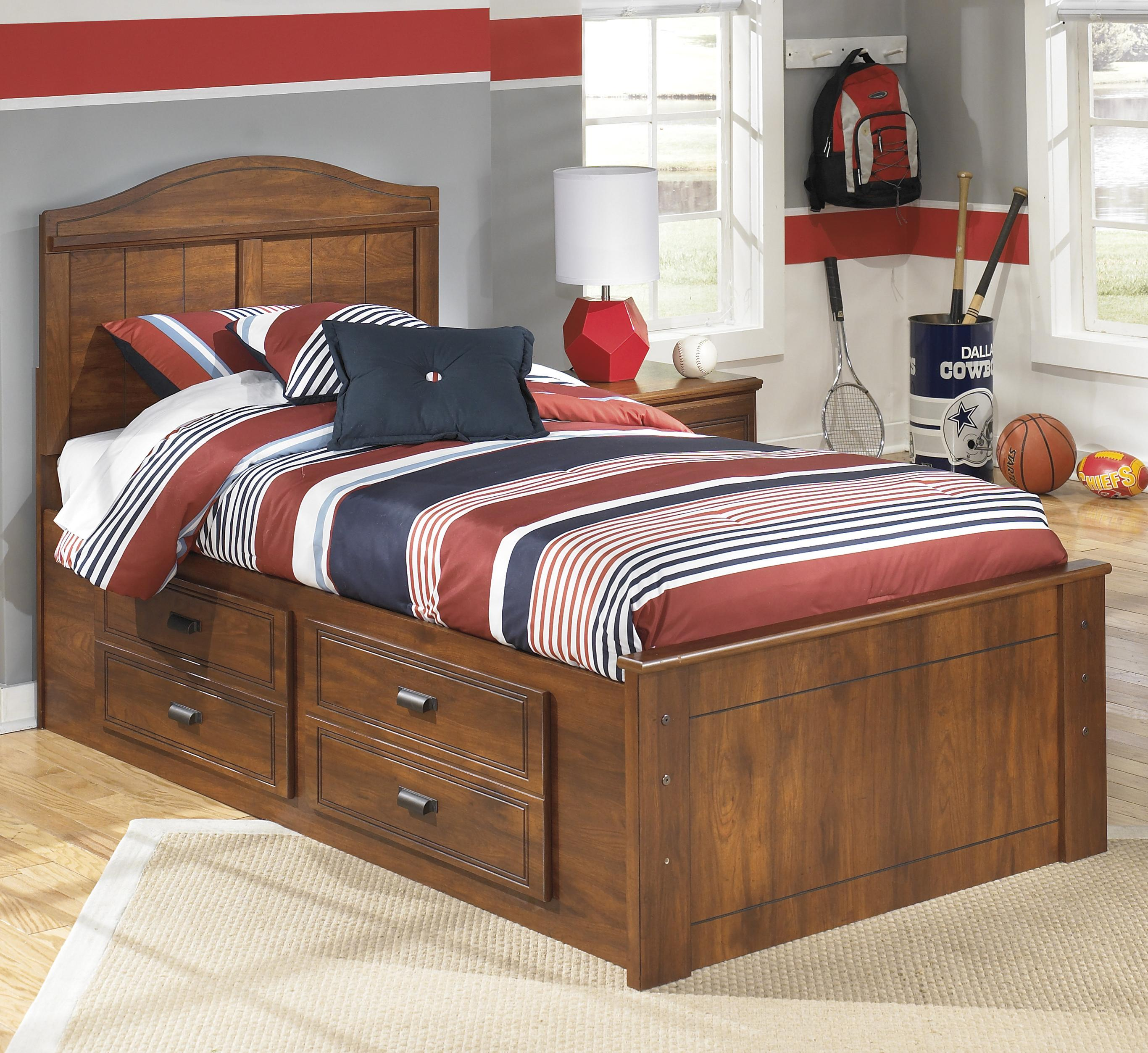 Signature Design by Ashley Barchan Twin Panel Bed with Underbed Storage - Item Number: B228-53+52+2x50+B100-11