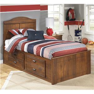 Signature Design by Ashley Barchan Twin Panel Bed with Underbed Storage