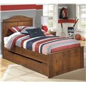 Signature Design by Ashley Barchan Twin Panel Bed with Trundle Storage Unit - Item Number: B228-53+52+82+60+B100-11