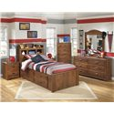 Signature Design by Ashley Barchan Twin Bookcase bed with underbed storage on one side