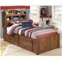Signature Design by Ashley Barchan Captain's Bed - Item Number: B228-63+52+50+B100-11