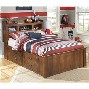 Signature Design by Ashley Barchan Full Bookcase Bed with Underbed Storage