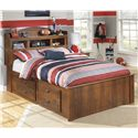 Signature Design by Ashley Barchan Full Bookcase Bed with Underbed Storage - Item Number: B228-65+84+2x50+B100-12