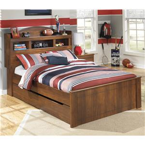 Signature Design by Ashley Barchan Full Bookcase Bed with Trundle Storage Unit