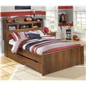 Signature Design by Ashley Barchan Full Bookcase Bed with Trundle Storage Unit - Item Number: B228-65+84+86+60+B100-12