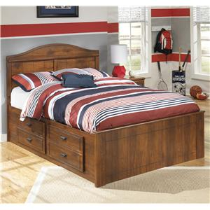 Signature Design by Ashley Barchan Full Panel Bed with Underbed Storage