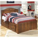 Signature Design by Ashley Barchan Full Panel Bed with Underbed Storage - Item Number: B228-87+84+2x50+B100-12