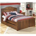 Signature Design by Ashley Barchan Full Panel Bed with Trundle Storage Unit - Item Number: B228-87+84+86+60+B100-12