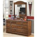 Signature Design by Ashley Barchan Dresser & Bedroom Mirror - Item Number: BB28-21+26