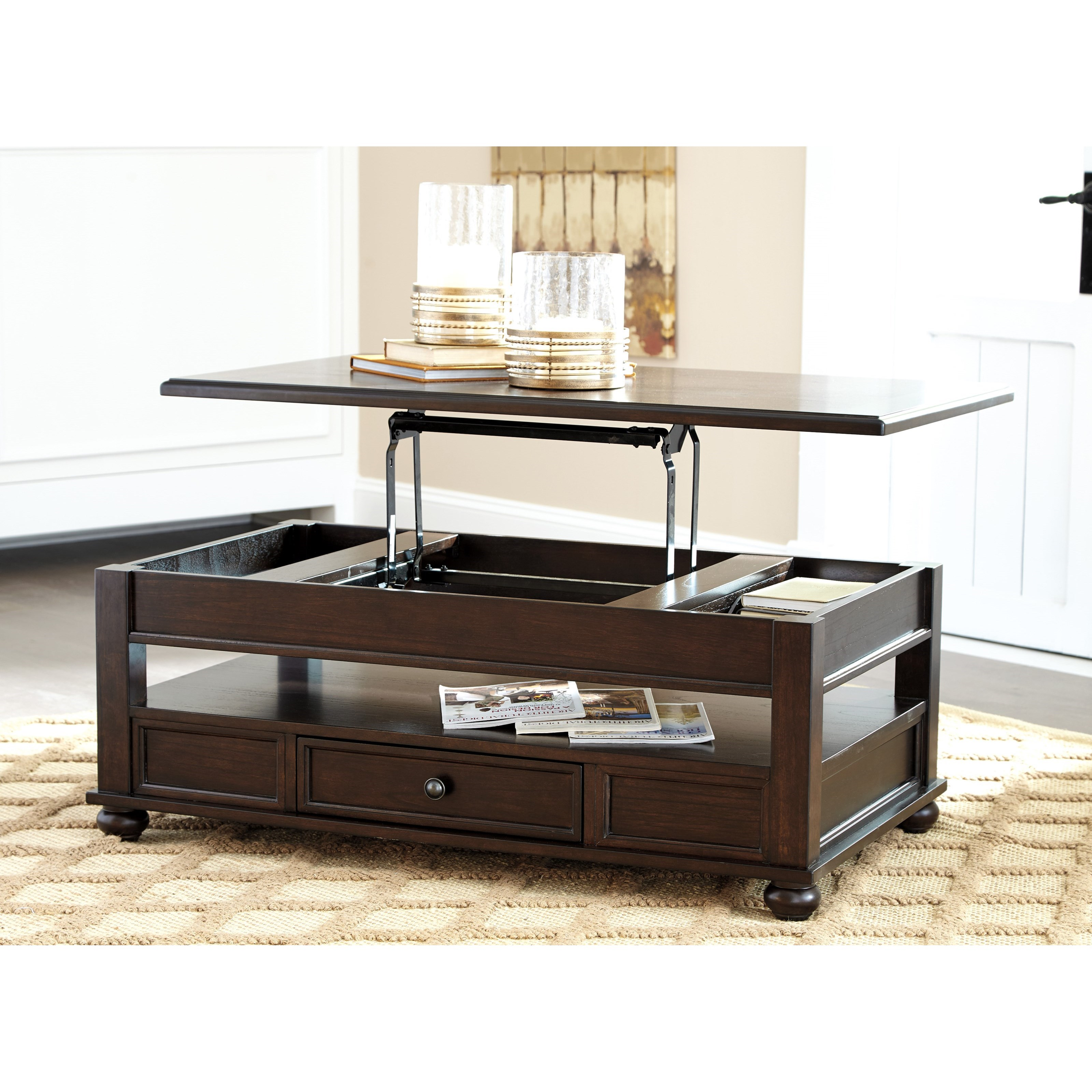 Traditional Coffee Table Sets Lift Top Cocktail Table: Ashley Signature Design Barilanni T934-9 Lift Top Cocktail