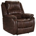 Signature Design by Ashley Barling Power Recliner w/ Adjustable Headrest - Item Number: 6880213