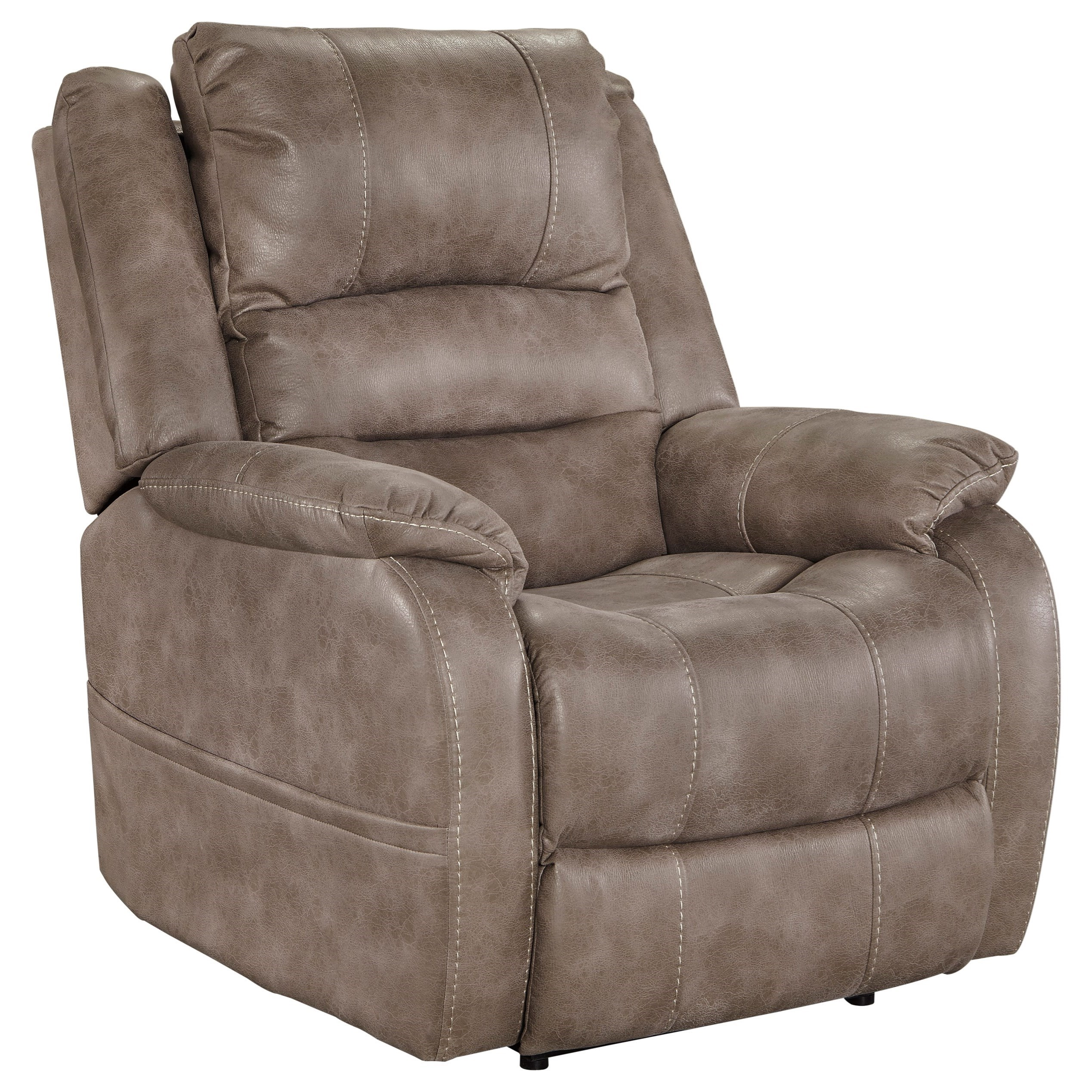 Signature Design by Ashley Barling Power Recliner w/ Adjustable Headrest - Item Number: 6880313