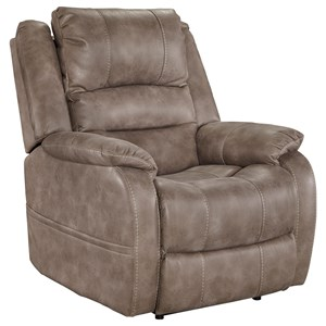 Signature Design by Ashley Barling Power Recliner w/ Adjustable Headrest