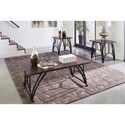 Signature Design by Ashley Barnallow Wood/Metal 3-Piece Occasional Table Set