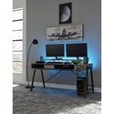 Signature Design by Ashley Barolli Gaming Desk with Open Cubbies, Monitor Stand, and PC Stand
