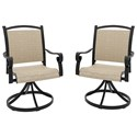 Signature Design by Ashley Bass Lake Set of 2 Sling Swivel Chairs - Item Number: P317-602A