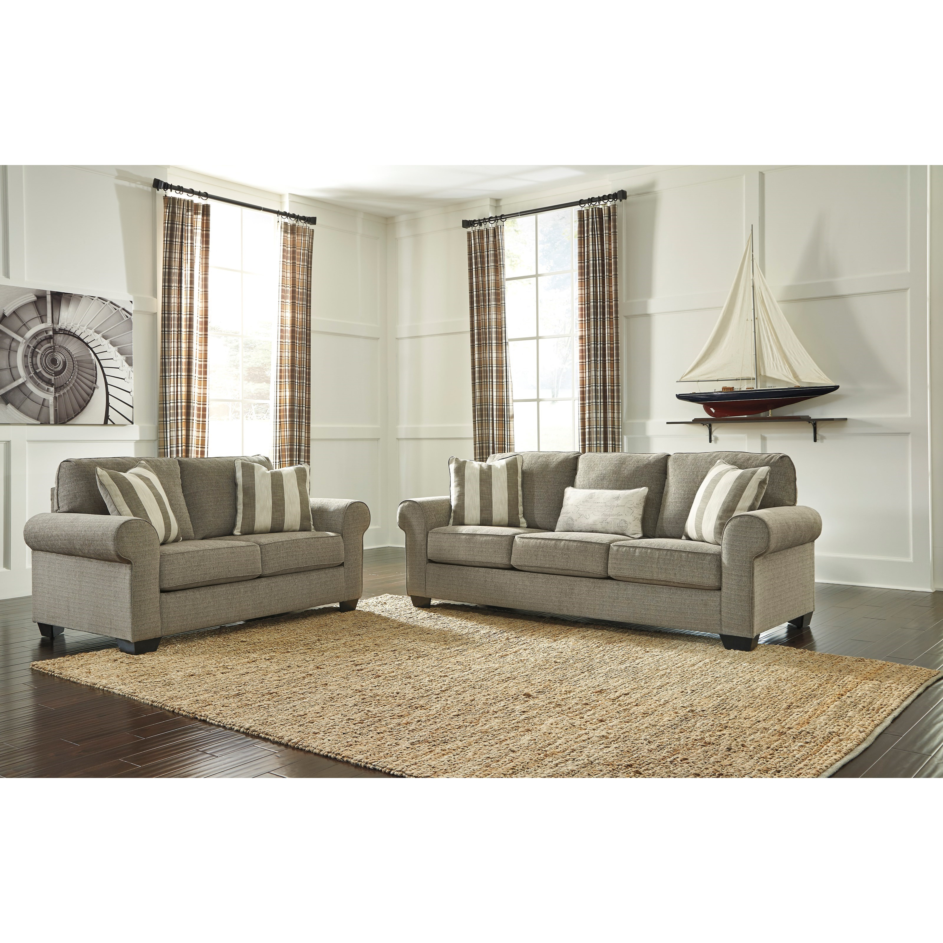 Signature Design by Ashley Baveria Stationary Living Room Group - Item Number: 47600 Living Room Group 1