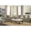 Signature Design by Ashley Baveria Stationary Living Room Group - Item Number: 47600 Living Room Group 2