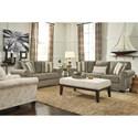 Signature Design by Ashley Baveria Stationary Living Room Group - Item Number: 47600 Living Room Group 3