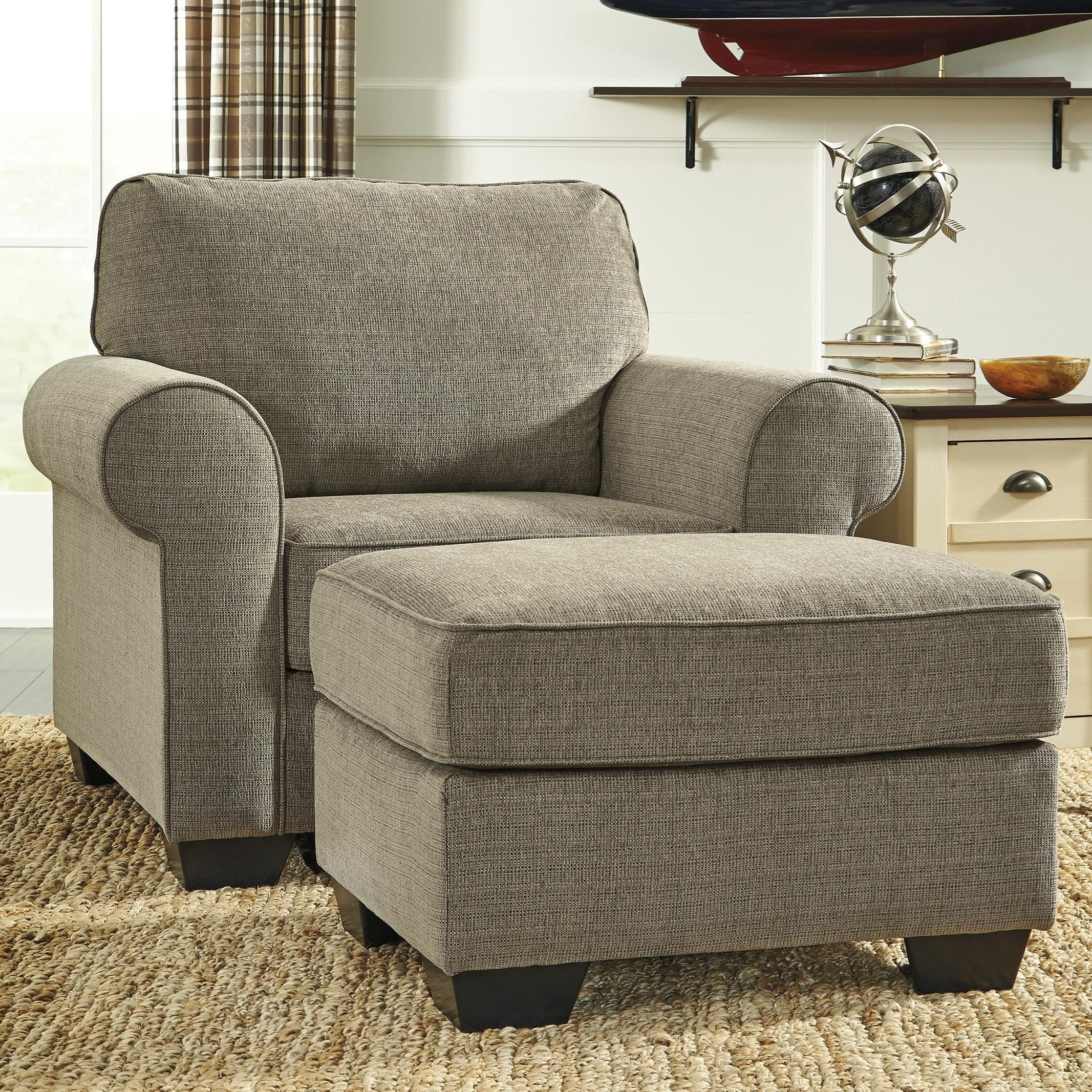 Signature Design by Ashley Baveria Chair & Ottoman - Item Number: 4760020+14