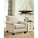 Signature Design by Ashley Baveria Accent Chair with French Script Fabric