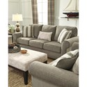 Signature Design by Ashley Baveria Sofa with Large Rolled Arms & Chenille Fabric