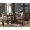 Signature Design by Ashley Baxenburg 5-Piece Square Dining Room Counter Table Set