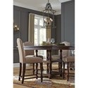 Signature Design by Ashley Baxenburg Transitional Square Dining Room Counter Table with Turned Legs