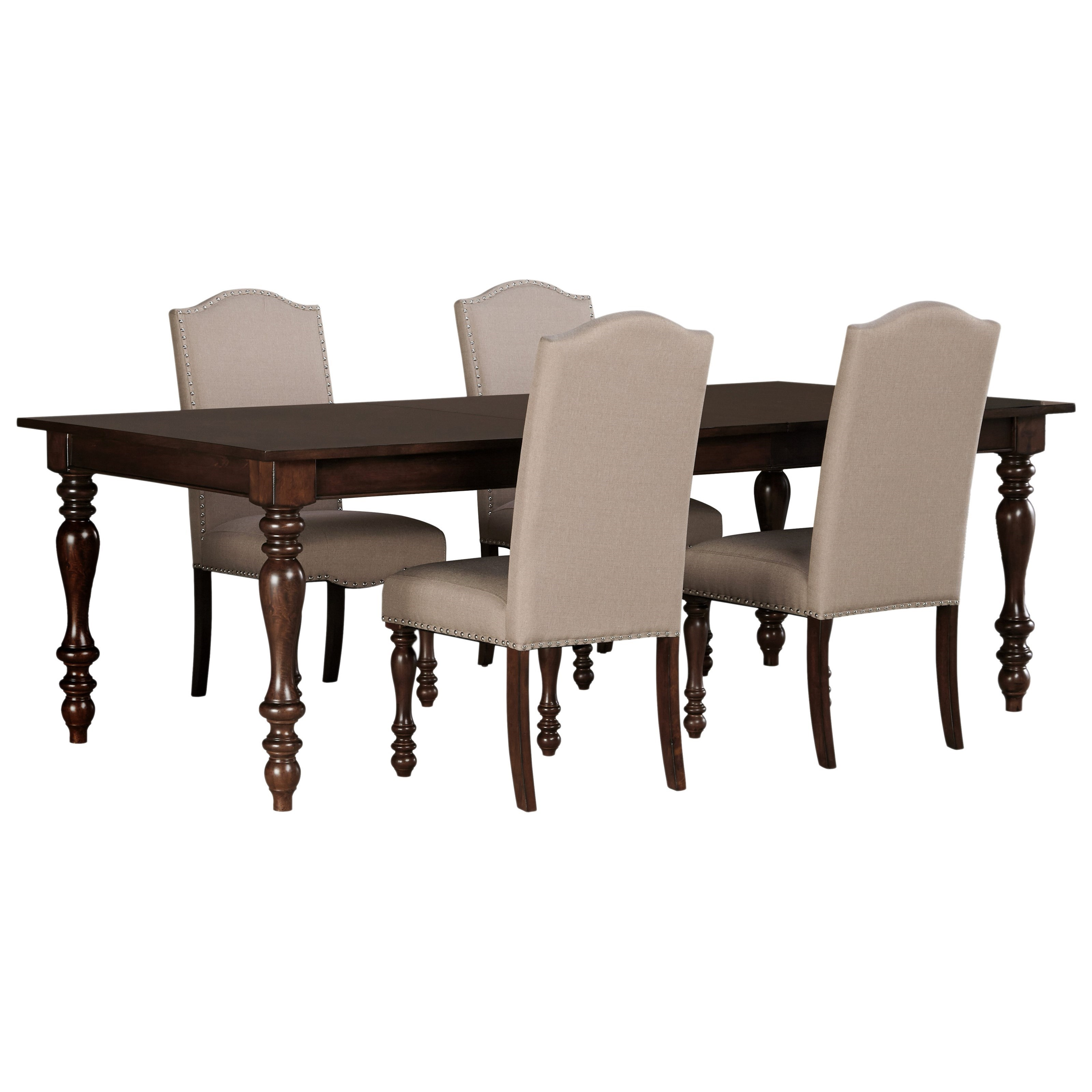 Signature Design by Ashley Baxenburg 5-Piece Dining Room Extension Table Set - Item Number: D506-35+4x01