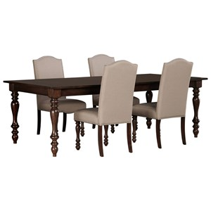 Signature Design by Ashley Baxenburg 5-Piece Dining Room Extension Table Set